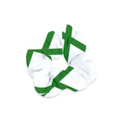 Lissajous Small Green Line Velvet Scrunchie by Mariart