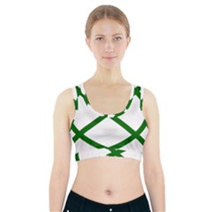 Lissajous Small Green Line Sports Bra With Pocket by Mariart