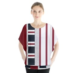 Line Streep Vertical Horizontal Blouse by Mariart