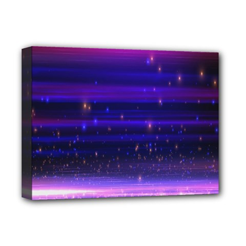 Massive Flare Lines Horizon Glow Particles Animation Background Space Deluxe Canvas 16  X 12   by Mariart