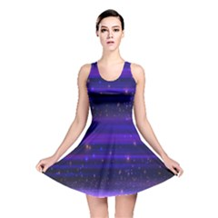 Massive Flare Lines Horizon Glow Particles Animation Background Space Reversible Skater Dress by Mariart