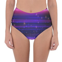 Massive Flare Lines Horizon Glow Particles Animation Background Space Reversible High Waist Bikini Bottoms