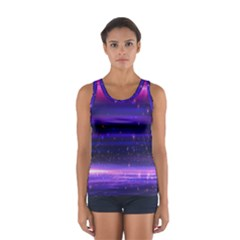 Massive Flare Lines Horizon Glow Particles Animation Background Space Sport Tank Top  by Mariart