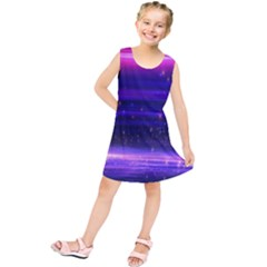Massive Flare Lines Horizon Glow Particles Animation Background Space Kids  Tunic Dress by Mariart