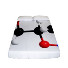 Nitroglycerin Lines Dna Fitted Sheet (full/ Double Size) by Mariart
