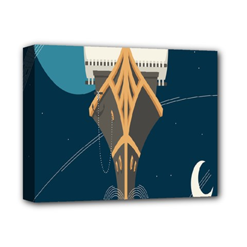 Planetary Resources Exploration Asteroid Mining Social Ship Deluxe Canvas 14  X 11  by Mariart