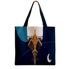 Planetary Resources Exploration Asteroid Mining Social Ship Grocery Tote Bag by Mariart