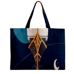 Planetary Resources Exploration Asteroid Mining Social Ship Medium Tote Bag by Mariart