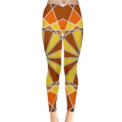 Ornaments Art Line Circle Classic Winter Leggings by Mariart