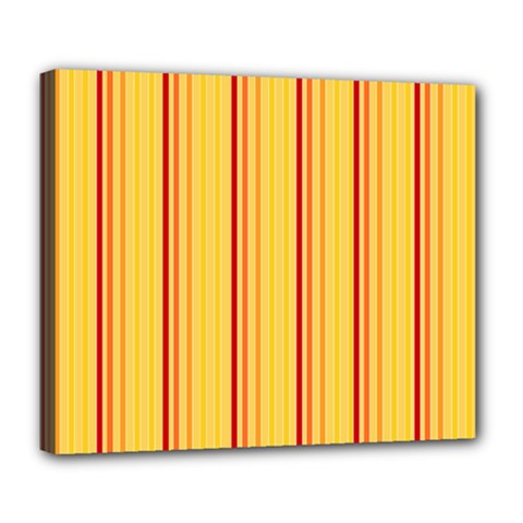Red Orange Lines Back Yellow Deluxe Canvas 24  X 20   by Mariart