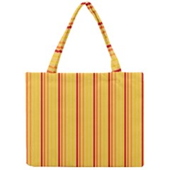 Red Orange Lines Back Yellow Mini Tote Bag by Mariart