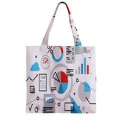 Science Mathematics Formula Zipper Grocery Tote Bag by Mariart