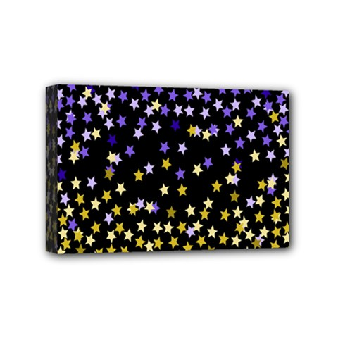 Space Star Light Gold Blue Beauty Mini Canvas 6  X 4  by Mariart