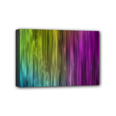 Rainbow Bubble Curtains Motion Background Space Mini Canvas 6  X 4