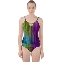 Rainbow Bubble Curtains Motion Background Space Cut Out Top Tankini Set by Mariart