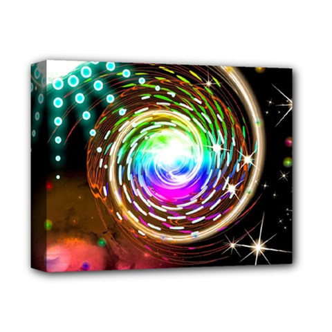 Space Star Planet Light Galaxy Moon Deluxe Canvas 14  X 11  by Mariart