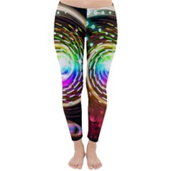 Space Star Planet Light Galaxy Moon Classic Winter Leggings by Mariart