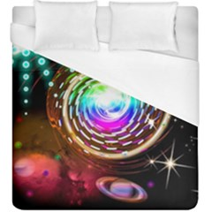Space Star Planet Light Galaxy Moon Duvet Cover (king Size) by Mariart