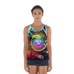 Space Star Planet Light Galaxy Moon Sport Tank Top  by Mariart