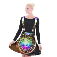 Space Star Planet Light Galaxy Moon Suspender Skater Skirt