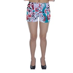 London Illustration City Skinny Shorts by Mariart