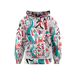 London Illustration City Kids  Zipper Hoodie by Mariart