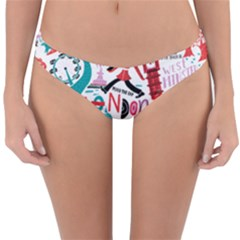 London Illustration City Reversible Hipster Bikini Bottoms by Mariart
