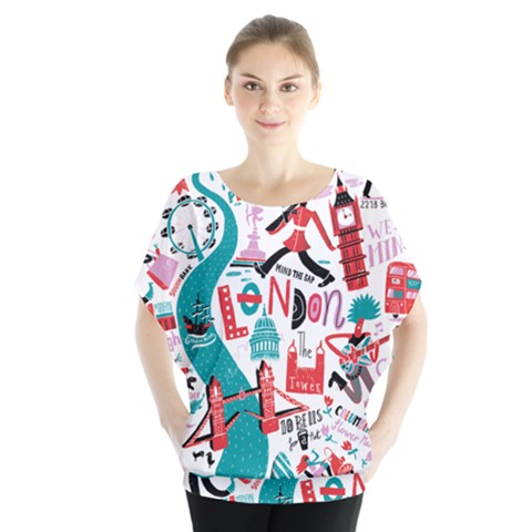 London Illustration City Blouse by Mariart