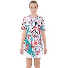 London Illustration City Mini Dress by Mariart