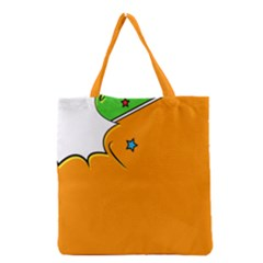 Star Line Orange Green Simple Beauty Cute Grocery Tote Bag by Mariart