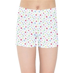 Star Rainboe Beauty Space Kids Sports Shorts by Mariart