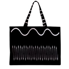 Style Line Amount Wave Chevron Zipper Mini Tote Bag by Mariart