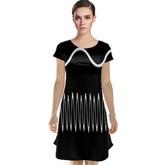 Style Line Amount Wave Chevron Cap Sleeve Nightdress
