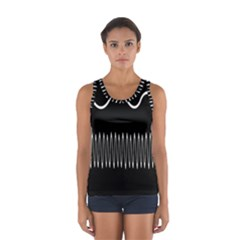 Style Line Amount Wave Chevron Sport Tank Top  by Mariart