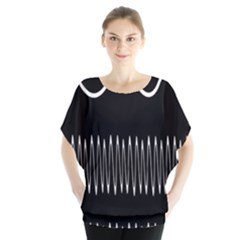 Style Line Amount Wave Chevron Blouse by Mariart