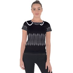 Style Line Amount Wave Chevron Short Sleeve Sports Top  by Mariart