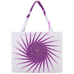 Spiral Purple Star Polka Mini Tote Bag