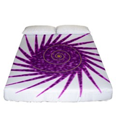 Spiral Purple Star Polka Fitted Sheet (california King Size) by Mariart