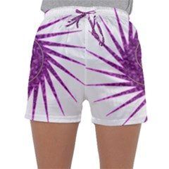 Spiral Purple Star Polka Sleepwear Shorts