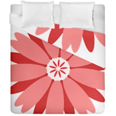 Sunflower Flower Floral Red Duvet Cover Double Side (california King Size) by Mariart
