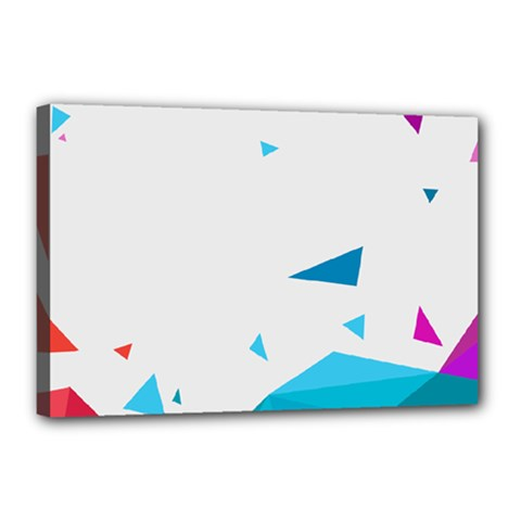 Triangle Chevron Colorfull Canvas 18  X 12  by Mariart