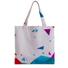 Triangle Chevron Colorfull Zipper Grocery Tote Bag by Mariart