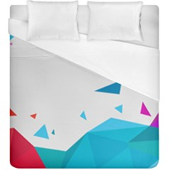 Triangle Chevron Colorfull Duvet Cover (king Size) by Mariart