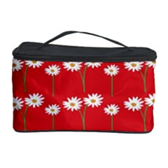 Sunflower Red Star Beauty Flower Floral Cosmetic Storage Case by Mariart