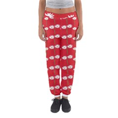 Sunflower Red Star Beauty Flower Floral Women s Jogger Sweatpants by Mariart