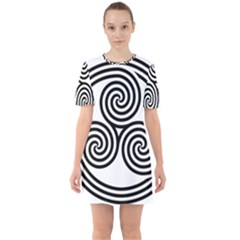 Triple Spiral Triskelion Black Mini Dress