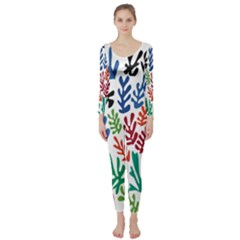 The Wreath Matisse Beauty Rainbow Color Sea Beach Long Sleeve Catsuit by Mariart