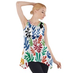 The Wreath Matisse Beauty Rainbow Color Sea Beach Side Drop Tank Tunic