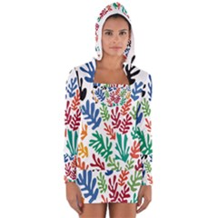The Wreath Matisse Beauty Rainbow Color Sea Beach Long Sleeve Hooded T Shirt by Mariart