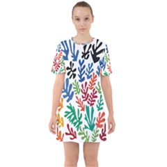 The Wreath Matisse Beauty Rainbow Color Sea Beach Mini Dress by Mariart